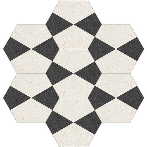 Hexagon Cement Tile 20x23-37