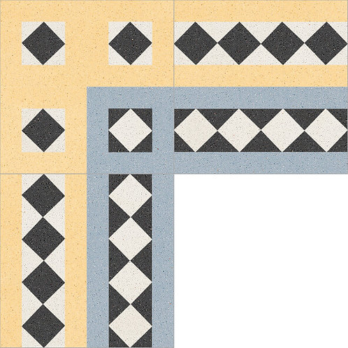 Cement Border Tile 20x20-16
