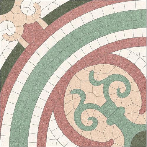 Cement Tile Bisantic Relief-02