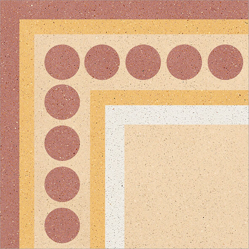 Cement Tile Complex Design Polka-Dot-04