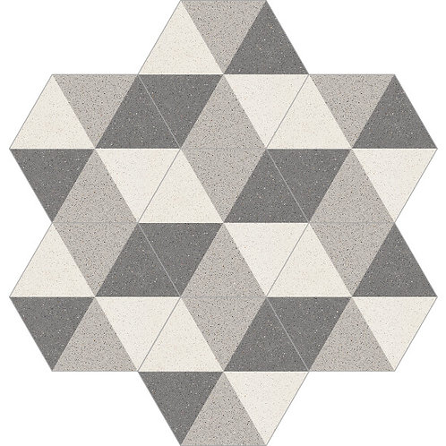 Hexagon Cement Tile 20x23-06