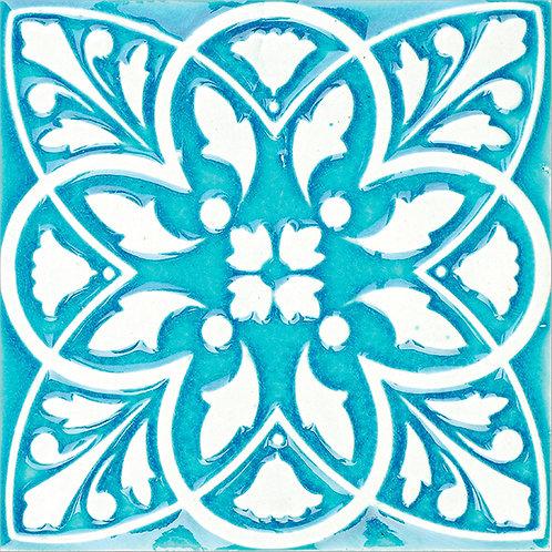 Art Nouveau Turkish Ceramic Tile