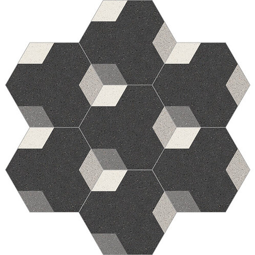 Hexagon Cement Tile 20x23-18