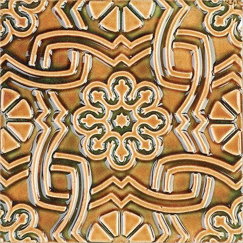 Art Nouveau Yellow Ceramic Tile