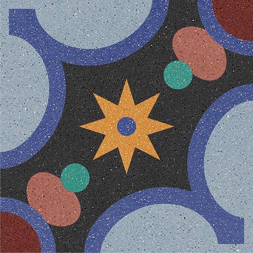 Cement Tile Ocean Design 06