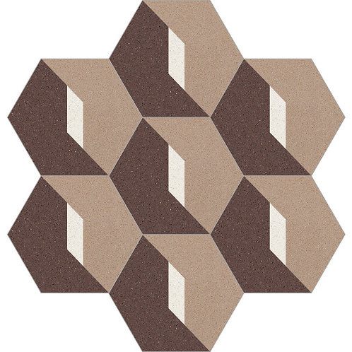 Hexagon Cement Tile 20x23-29