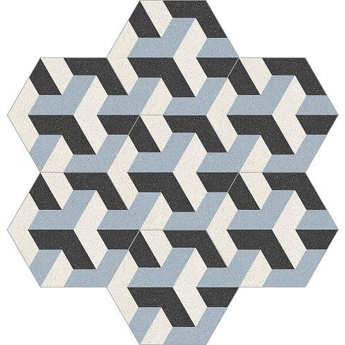 Hexagon Cement Tile 20x23-12