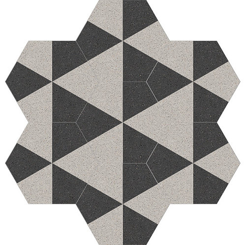 Hexagon Cement Tile 20x23-07