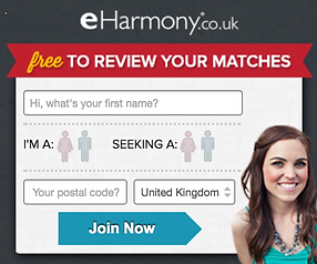 eHarmony Sign Up Window