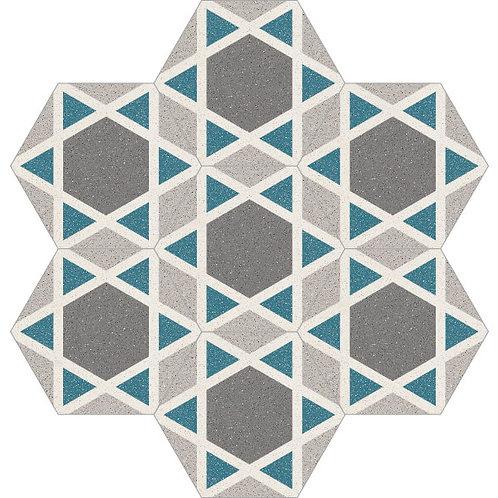 Hexagon Cement Tile 20x23-11