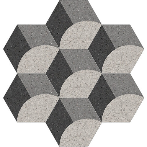 Hexagon Cement Tile 20x23-30