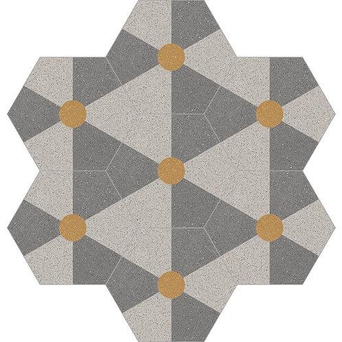 Hexagon Cement Tile 20x23-10