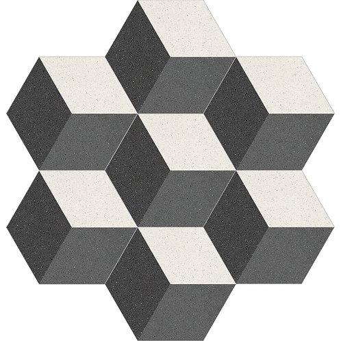 Hexagon Cement Tile 30x35-07