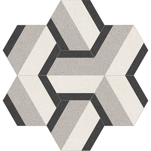 Hexagon Cement Tile 30x35-13