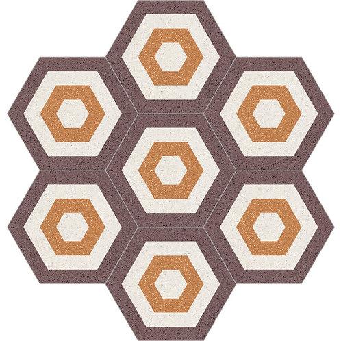 Hexagon Cement Tile 20x23-08