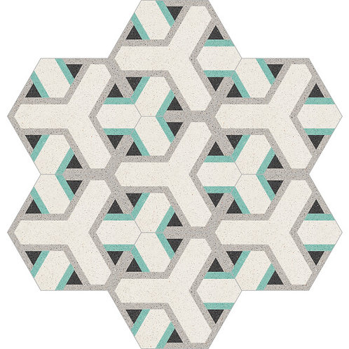 Hexagon Cement Tile 20x23-14