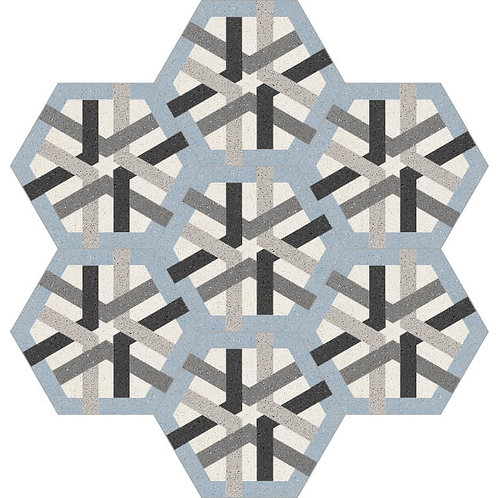 Hexagon Cement Tile 20x23-15