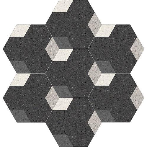 Hexagon Cement Tile 30x35-11