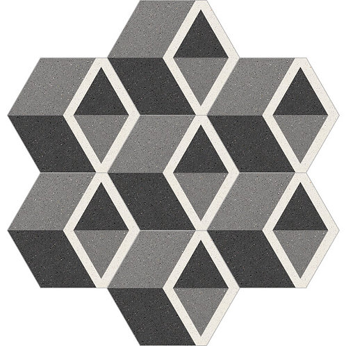 Hexagon Cement Tile 20x23-25