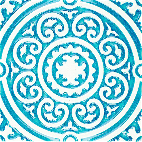 Art Nouveau Round Ceramic Tile