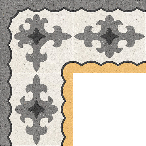 Cement Border Tile 20x20-06