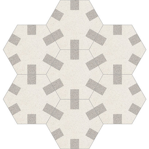 Hexagon Cement Tile 20x23-39