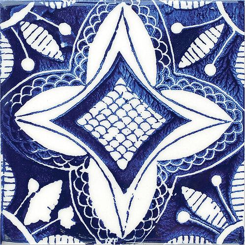 Painted Artisanl Ceramic Tile