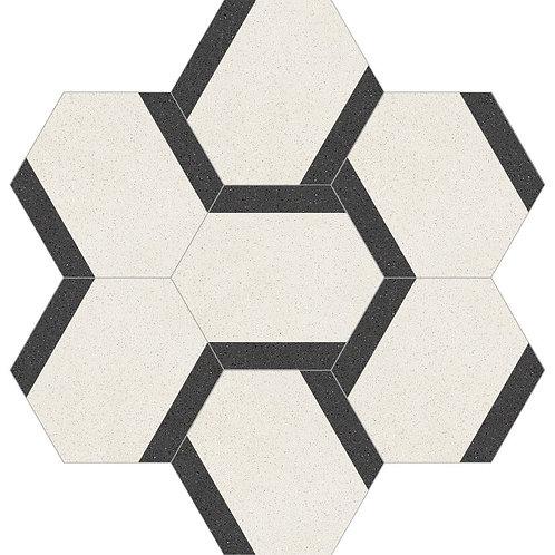 Hexagon Cement Tile 30x35-12