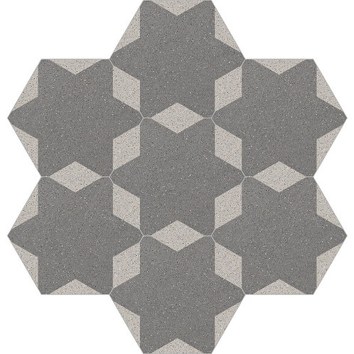 Hexagon Cement Tile 20x23-21