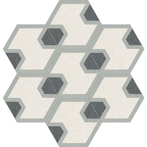 Hexagon Cement Tile 20x23-31