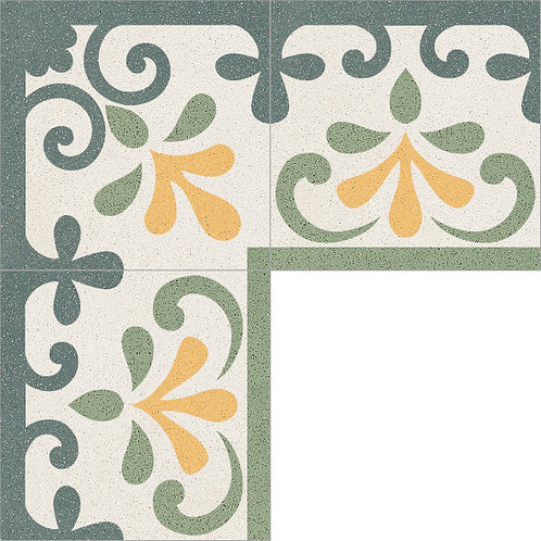 Cement Border Tile 20x20-09