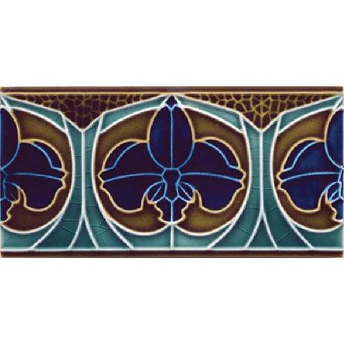 Multicolored  Relief Ceramic Plinth