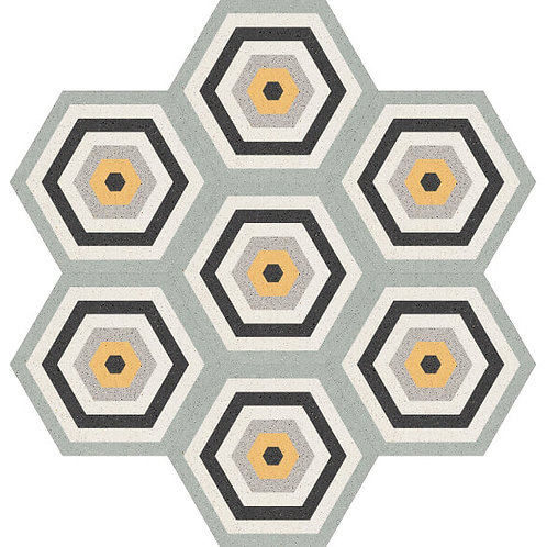 Hexagon Cement Tile 20x23-04