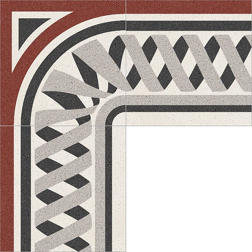 Cement Border Tile 20x20-19