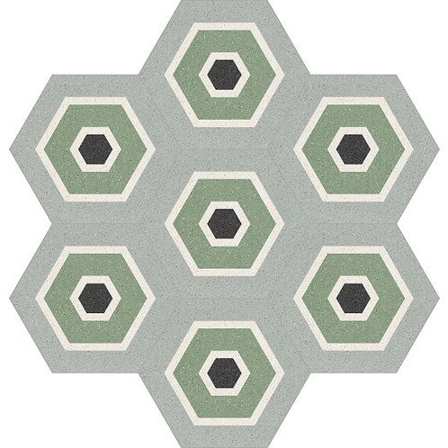Hexagon Cement Tile 20x23-03