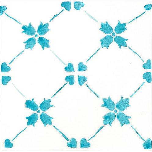 Blue Artisanal Ceramic Tile