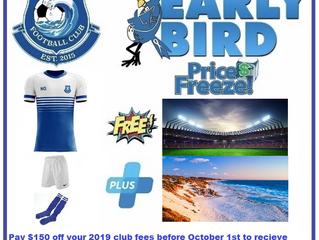 2019 Early Bird Deal
