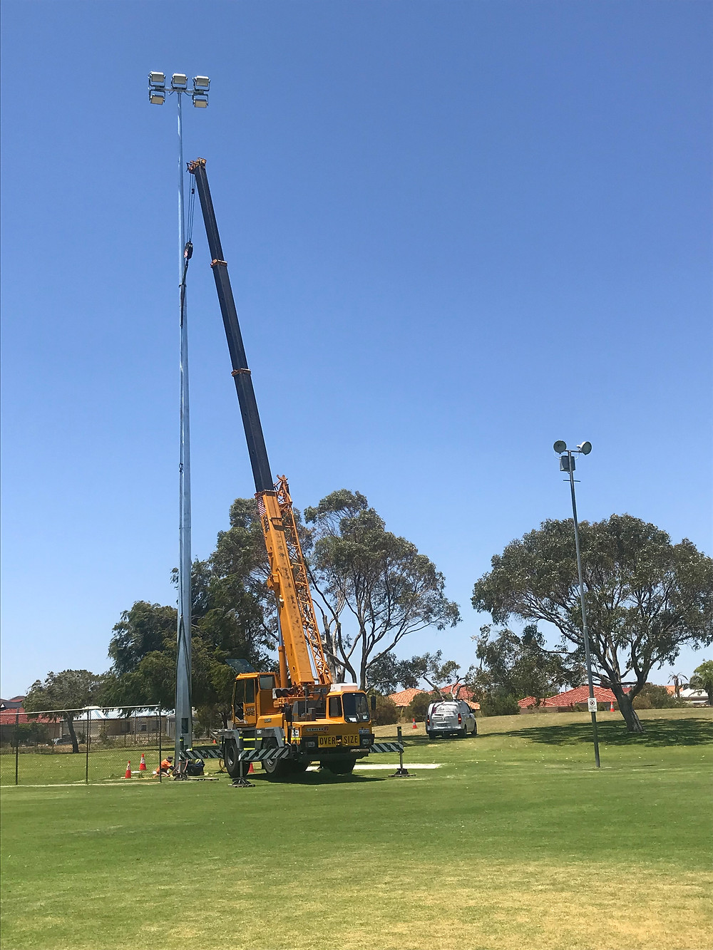 4 New 100 Lux LED Floodlights have been installed today at Abbeville Park, Mindarie.  Look forward to a bright 2019 season!!!