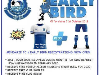 2020 Early Bird Rego's Open