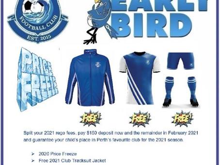 2021 Early Bird Regos open