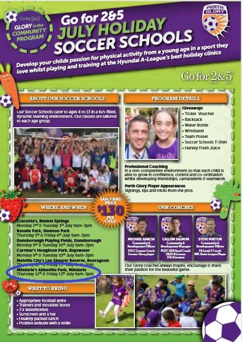 Mindarie FC: Perth Glory Holiday Camp