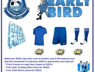 2022 Early Bird Regos Open