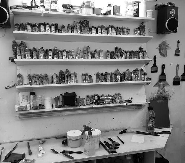 Anne Penman Sweet artist studio shot