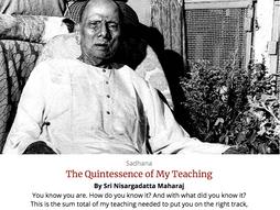 The Quintessence of My Teaching