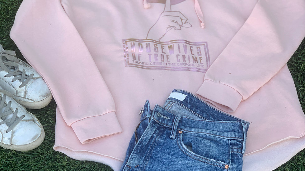 Housewives of True Crime Rose Gold and Pink Sweatshirt