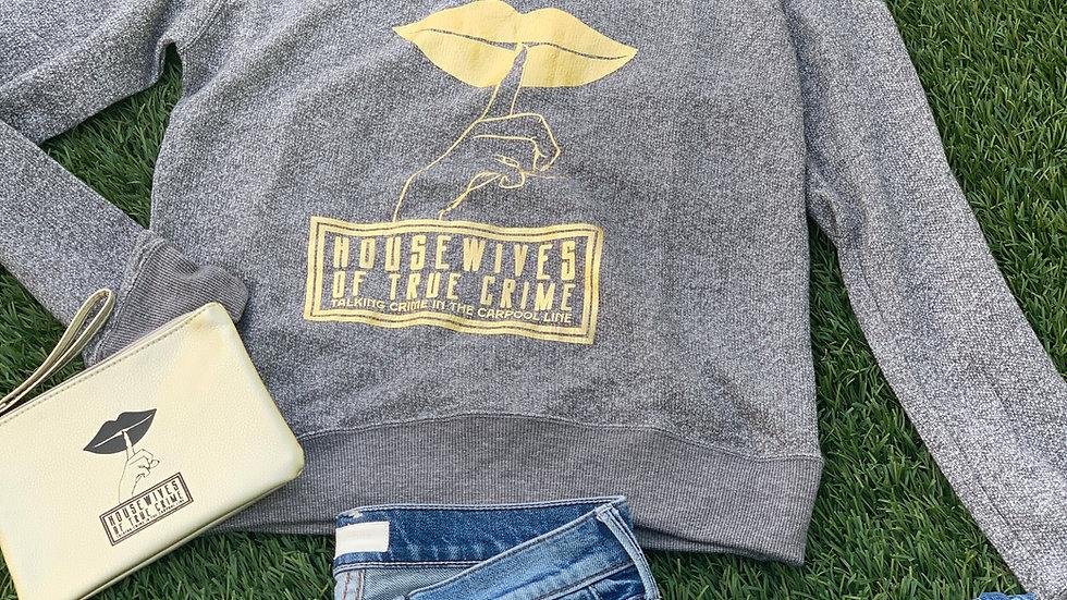 Off the Shoulder Gray Sweatshirt