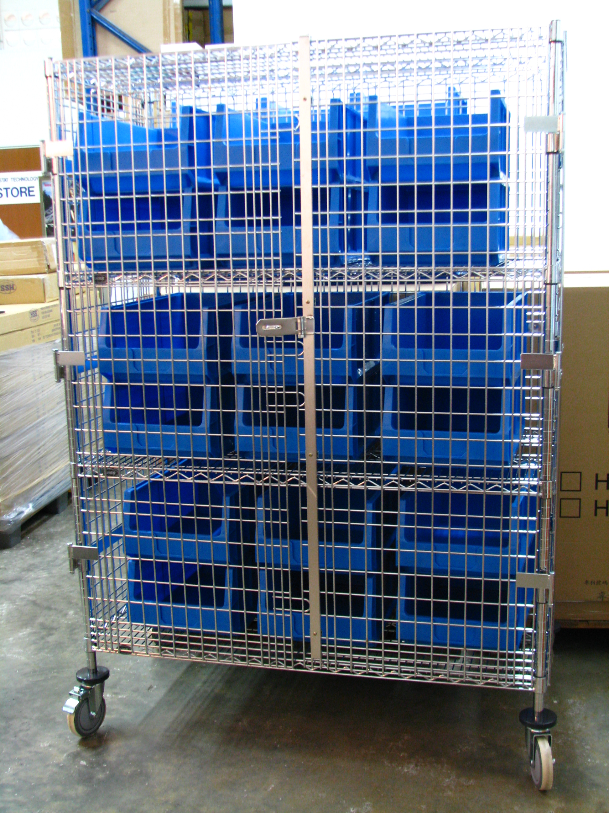 Wire Shelvings Singapore L Mobile Security Cage Or Cart