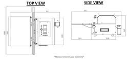 MDV-600SH DIMENSIONS