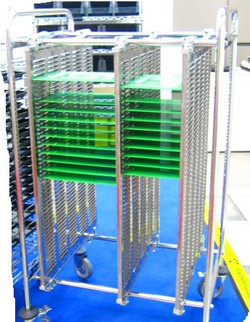3 panel PCB cart