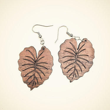 Kalo/Taro Leaf Earrings